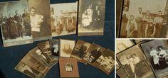 Alte Porträtfotos auf Karton