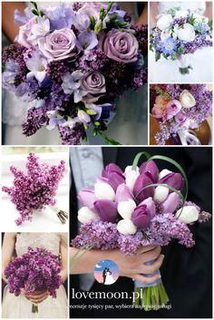 bukiet ślubny kwiaty ślub w maju lilac wedding color palette fioletowy kolor ślub motyw przewodni bez http://lovemoon.pl https://www.facebook.com/lovemoonpl/
