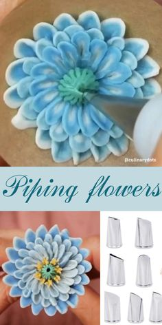 Frosting Flowers, Royal Icing Flowers, Buttercream Flower Cake, Fondant Flowers, Buttercream Flowers Tutorial, Fondant Bow, Fondant Tutorial, Cake Decorating Frosting, Cake Decorating Techniques