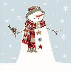 Christmas » Snowman Card » Snowman Card - Sally Swannell