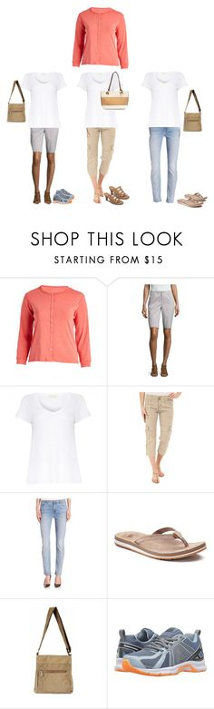 """""""Sightseeing White tee"""" by donovan-heather on Polyvore featuring Jenny, Liz Claiborne, American Vintage, Sanctuary, Jen7, New Balance, Reebok, Nicole Miller and plus size clothing"""