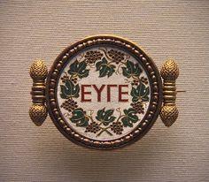 A Greek inscription, Bravo mosaic, set in a gold brooch by Castellani, about 1860   #TuscanyAgriturismoGiratola
