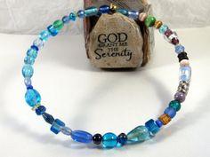 Random beaded choker Blue Beads Choker by DeelitefulJewelry, $25.00