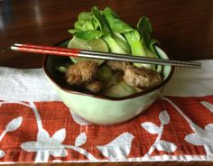 This is the perfect soup for cold winter nights. This Asian Turkey Meatball soup looks like it might take a while to make, but it is quite easy to do.