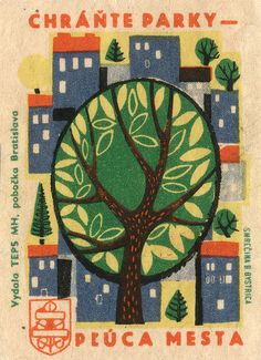 Made in Czechoslovakia Vintage Labels, Vintage Posters, Vintage Packaging, Graphic Design Typography, Graphic Art, Matchbox Art, Tiny Prints, Art Graphique, Illustration Art