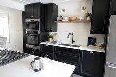 black and walnut kitchen