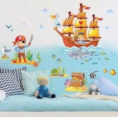 Unique Wandtattoo Kinderzimmer Piraten Set x Jetzt bestellen unter https moebel