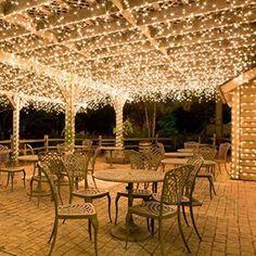 Colleer® LED-Lichterkette 300 LED- ideale LED-Beleuchtung mit warmweiß für Innen und Außen