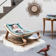 Baby rocker LEVO Aruba blue- CHARLIE CRANE- baby furniture