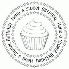 sweet birthday digital stamp and printables birthday