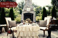@celebratingeverydaylife. Ralph Lauren inspired outdoor dinner for two # autumn tablescape #Hometalk