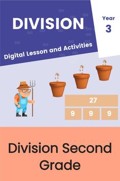 Second Grade Division Activities Division Activities, Interactive Activities, Interactive Notebooks, Fifth Grade Math, Fourth Grade, Second Grade, Unit Plan, Free Printable Worksheets, Math Centers