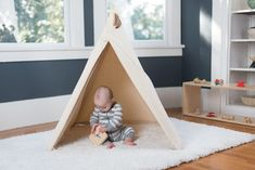 Once your little one is sitting up independently, it is the perfect time to introduce a play tent to their world. A tent allows your child to create a private hideaway or restful oasis all by themselves. Kids Tents, Shag Carpet, New Environment, Programming For Kids, Indoor Play, Freedom Of Movement, Different Textures, Free Clothes, Neutral Colors