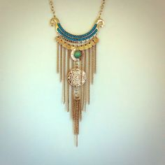 Statement Necklace NWOT ~ Silver Fringe Style NWOT ~ Fashion Jewelry ~ Not real silver. Jewelry Necklaces