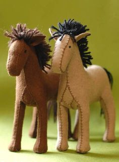 Handmade horses. My daughter would FLIP for these.