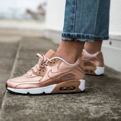 cheaper 2bd03 13027 Nike Shoes   Nike Air Max 90 Se Ltr Rose Gold Gs   Color  Gold