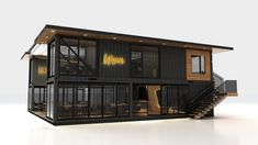 Next Container // Lokma on Behance Building A Container Home, Container Buildings, Container Architecture, Container House Plans, Container House Design, Architecture Design, Container Cafe, Shipping Container Home Designs, Casas Containers