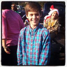 Ethan at four h Christmas parade