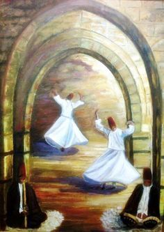 Paul Cezanne, Dancing Drawings, Dance Paintings, Islamic Paintings, Turkish Art, Painting Collage, Dance Art, Egyptian Art, Calligraphy Art
