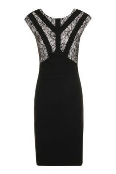 21b61de25c1 Paper Dolls Black  amp  Grey Cut Out Lace Detail Dress £58 Sizes uk 8
