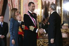 King Felipe and Queen Letizia attends the 2015 Pascua Militar