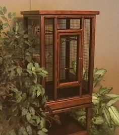 Medium Classic bird cages in red mahogany cherry wood
