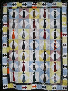 what a fantastic quilt idea for a man. or to do something with a loved ones tie collection... i love it. :)