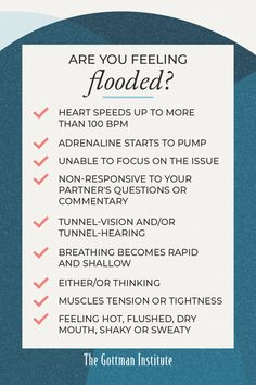 Are you feeling flooded? Stonewalling is the last of the Four Horsemen identified by Dr. John Gottman. This happens when one partner is flooding or trying to avoid going there. They withdraw from interaction both verbally and non-verbally, emotionally, and sometimes physically. The good news is that there is an antidote: agree to take a break and practice self-soothing. Learn how with help from Gottman Relationship Coach today. Partner Questions, Gottman Institute, John Gottman, Relationship Coach, Emotional Development, Muscle Tension, To Focus, Relationships, Self