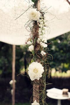 chuppah flowers in a tighter design with some moss and willow accents and blossoms incorporated Tent Decorations, Reception Decorations, Event Decor, Marquee Wedding, Wedding Ceremony, Wedding Arches, Wedding Bells, Pantone, Tent Poles