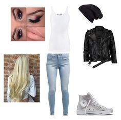 """""""#beanie"""" by queen-sanja on Polyvore featuring Halogen, Vince, VIPARO, Levi's and Converse"""