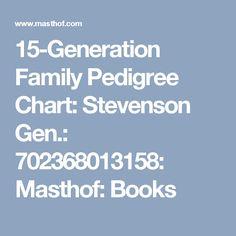 15-Generation Family Pedigree Chart: Stevenson Gen.: 702368013158: Masthof: Books