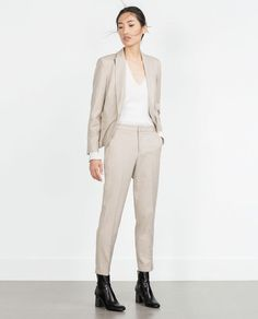 Image 1 of TROUSERS WITH TURN-UP HEM from Zara