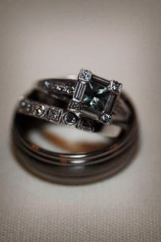 Non-Diamond Engagement Rings  I want colors people!