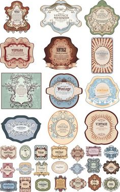 Vintage Labels and Tags