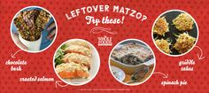 Leftover Matzo? Try these!