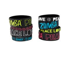 Peace, Love-N-Arms Party Bracelets 8pk | Zumba Wear Save 10% on Zumba® wear on zumba.com. Click to shop with 10% discount http://www.zumba.com/en-US/store/US/affiliate?affil=10sale