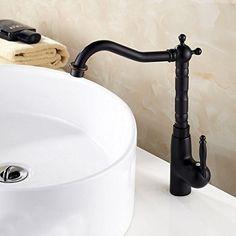 Oil Rubbed Bronze Classic Single Handle High Arc Bathroom Vessel Sink Faucet Kitchen Sink Faucet with Swivel Spout - Single Lever Taps - Kitchen Taps http://www.plumpinguk.co.uk/oil-rubbed-bronze-classic-single-handle-high-arc-bathroom-vessel-sink-faucet-kitchen-sink-faucet-with-swivel-spout.html