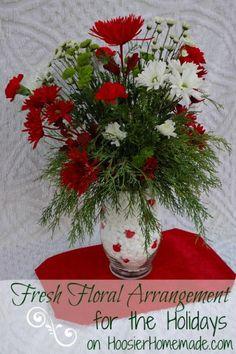 Fresh Floral Arrangement for the Holidays