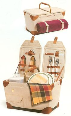 Elegant Country Picnic Baskets from Dann, Complete Collection