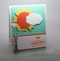 Punch Art: Sun Shiny Card - Inkredible Stamping with Julie