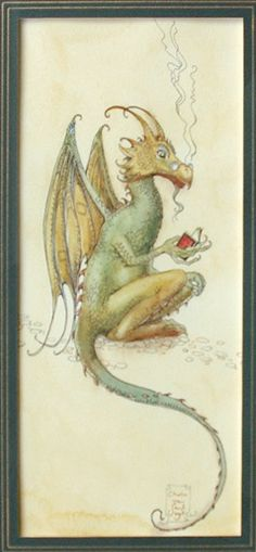 adorable reading dragon by charles van sandwyk