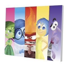 """Disney Inside Out 11.5"""" x 15.75"""" LED Canvas Wall ArtFeatures colorful light up canvas of the voices inside Riley's head - Joy, Sadness, Fear, Anger, and Disgust! LED lights inside canvas artwork will illuminate any child's room while adding to the decor No assembly required - canvas material is easy to mount 2-AA batteries required (not included) Dimensions: 11.5"""" H x 15.75"""" W"""