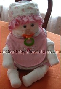 girl diaper baby with pacifier