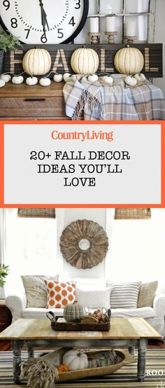 Save these fall decor ideas for later by pinning this image and following Country Living on Pinterest for more.