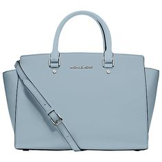 MICHAEL Michael Kors Selma Large Tote Bag in Powder Blue ❤♔Life, likes and style of Creole-Belle ♥