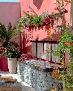 30+ καταπληκτικές κατασκευές για κήπους και αυλές με πλέγμα και πέτρες