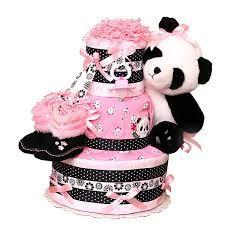 panda diaper cake