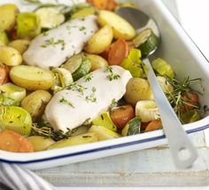 Fancy the flavour of a roast, but not the fat? Try this simple, healthy one-pan recipe