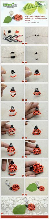 Key Chain Design- Make Beetle Key Chain with Seed Beads