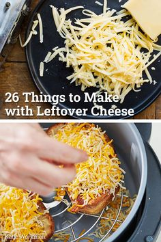 26 Things to Make with Leftover Cheese / Cheese is a perfect springboard for all kinds of terrific dishes, and hard cheeses or packaged shredded cheeses last for a nice long time in the fridge. Cookbook Recipes, Top Recipes, Simple Recipes, Cheesy Mashed Potatoes, Family Meals, Family Recipes, Cheesy Sauce, Springboard, Cheesy Recipes